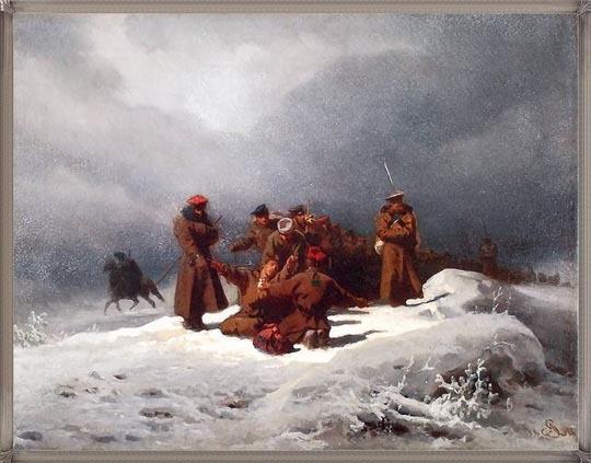 Grottger, pochod na sybir