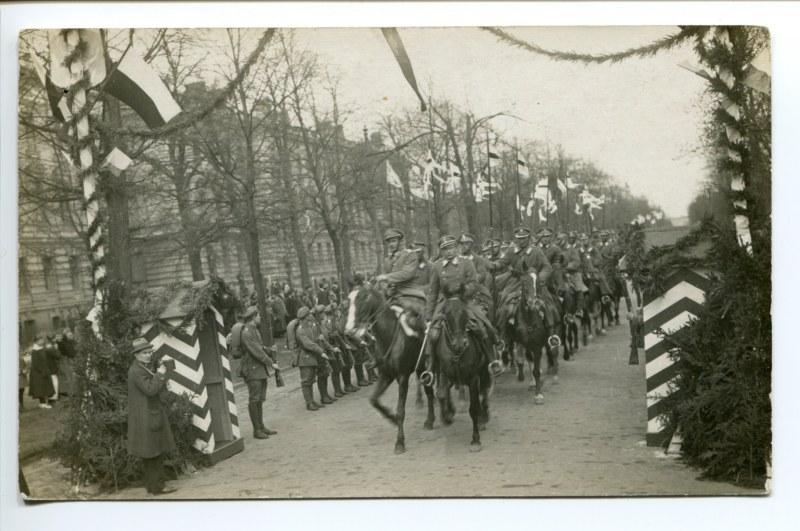 Wyjazd wojska polskiego na wojnę polsko-bolszewicką