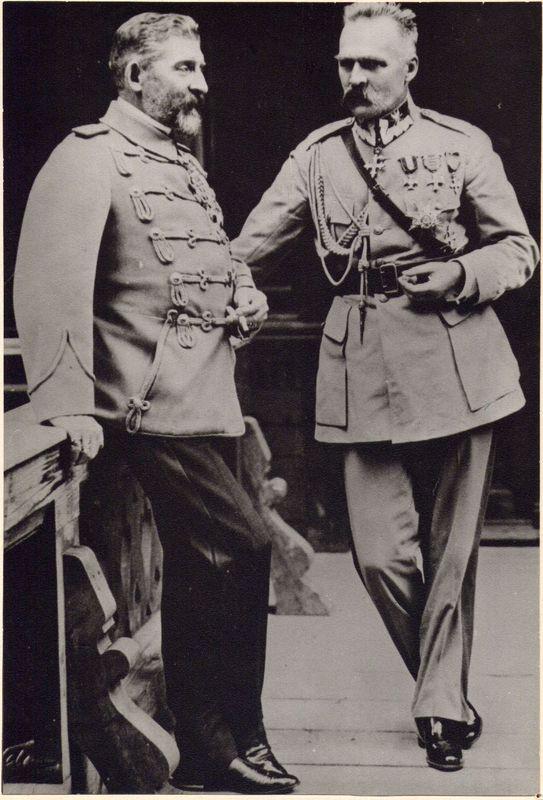 Józef Piłsudski z królem Rumunii