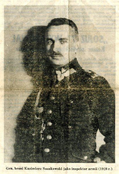 Gen. Sosnkowski jako inspektor armii w 1928 roku