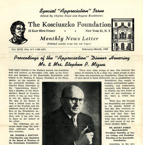 Biuletyn Fundacji Kościuszkowskiej w Nowym Jorku