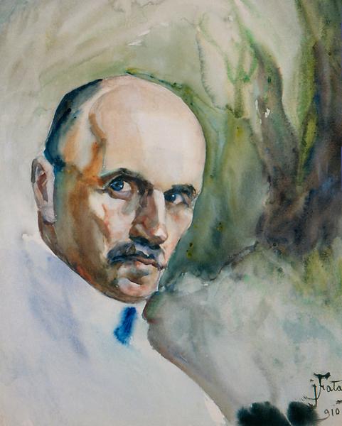 Julian Fałat, Autoportret