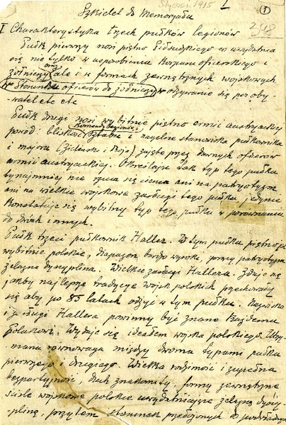 Raport Michałowskiego o Legionach