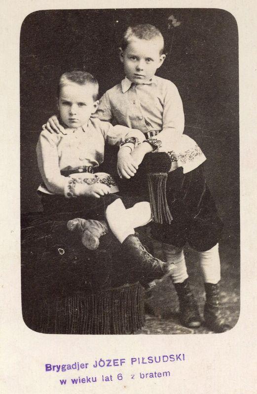 Józef i Bronisław Piłsudski w 1873 rok