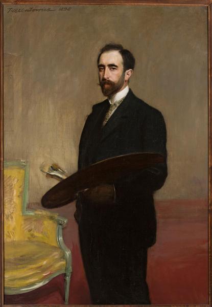 Teodor Axentowicz, Autoportret z paletą