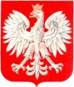 Herb Polski wg wzoru z 1990 roku.