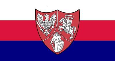 Flaga używana przezpowstańców styczniowychw latach 1863–1864.<br />