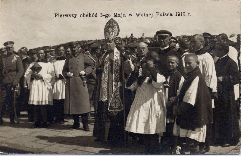 Święto Konstytucji 3 Maja, po raz pierwszy obchodzone w niepodległej Polsce, 1919 rok