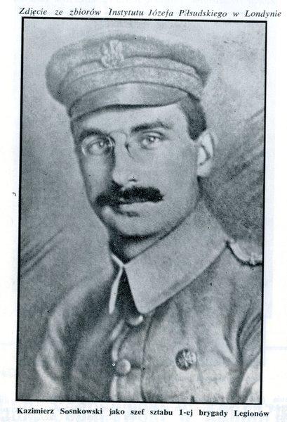 Kazimierz Sosnkowski jako Szef Sztabu 1-ej Brygady