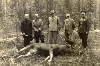 Ignacy Mościcki - polowanie