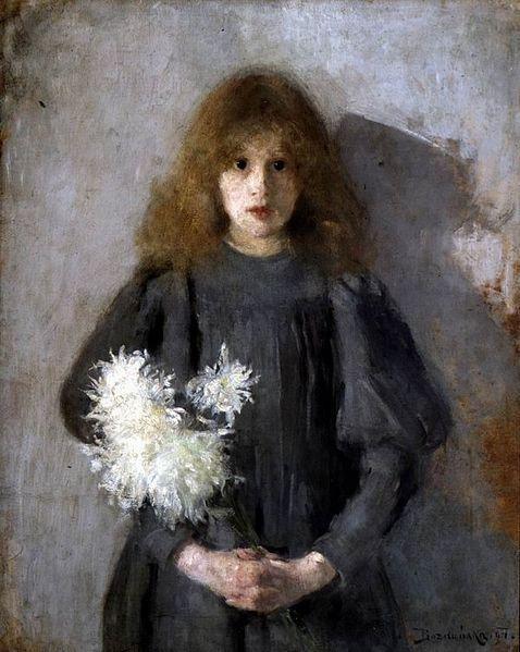 Boznanska, Dziewczynksa z chryzantemami