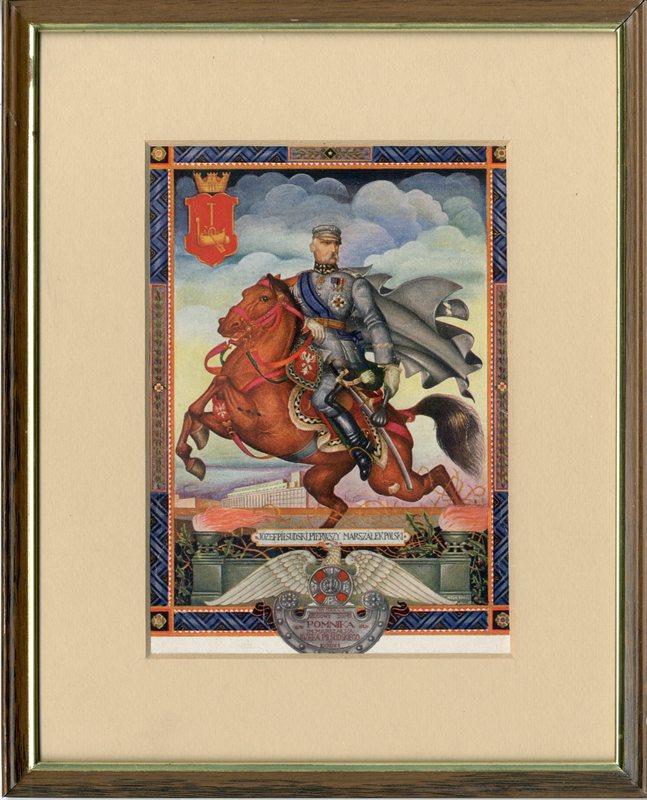 Józef Piłsudski, rysunek Artura Szyka