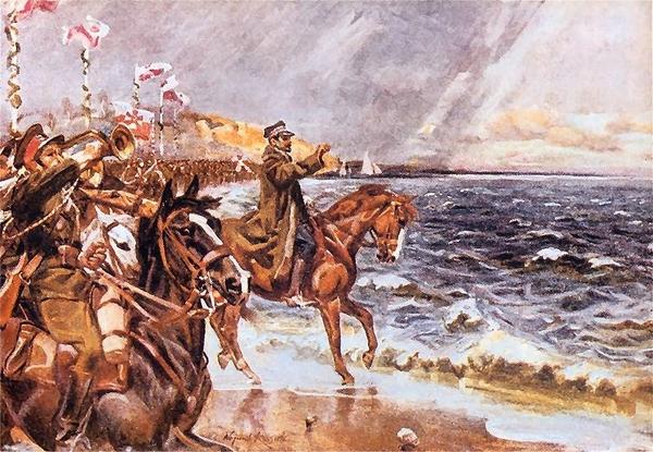 Józef Haller  zaslubiny z morzem
