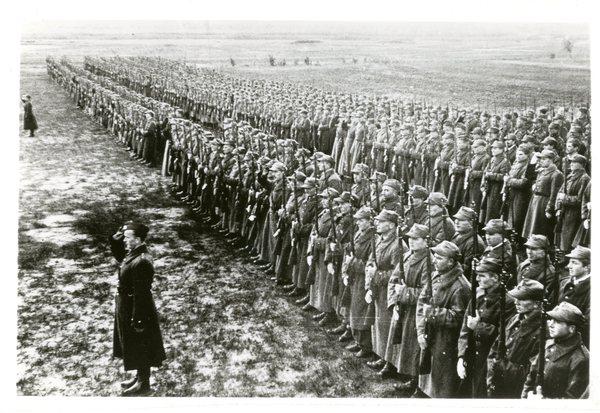 Parada wojskowa, pierwsze Święto Niepodległości w Armii Polskiej w Rosji, 11 listopada 1941 r.