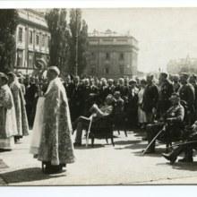 Warszawa, Msza Święta po odparciu Armii Czerwonej, sierpień 1920 r.