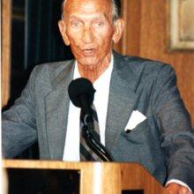 Jan Karski w Fundacji Kościuszkowskiej, Nowy Jork, 9 września 1995 r.