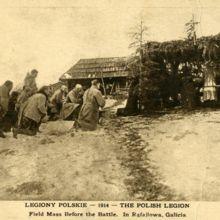 Msza święta przed bitwą w Rafajłowej