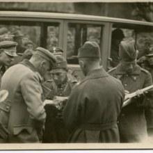 Narada wojenna, 1920, Józef Piłsudski, ppłk. B. Wieniawa-Długoszowski (adjutant Naczelnego Wodza), gen. E. Rydz-Śmigły