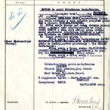 Przetłumaczona kopia sowieckiej depeszy rozszyfrowana przez polski radiowywiad