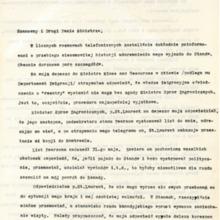 List w sprawie  odmowy wyjazdu  do USA