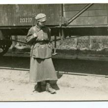 Przedstawicielka Ochotniczej Legii Kobiet - polskiej organizacji wojskowej działającej w latach 1918-1922 skupiającej ponad 2500 ochotniczek walczących w wojnie polsko-bolszewickiej